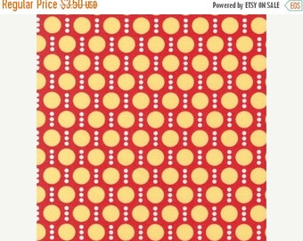 SHOP CLOSING SALE Fabric for quilt or craft Robert Kaufman Roughing It by Laurie Wisbrun Dots in Red half yard