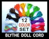 Blythe Cord - 1mm Nylon - Blythe Doll Pullstring Cording - 12 Colors