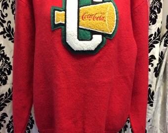 1980's Coca-Cola Letterman Sweater