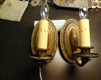 Antique Lighting 1907 Williams Ele. Wall Sconces