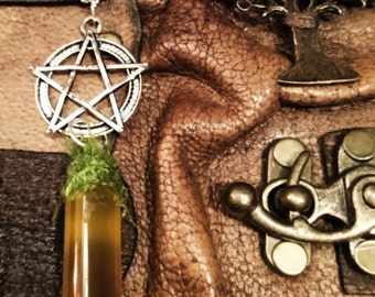 Pentacle pendant with magical oil - make your choise