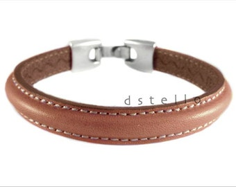 Gift Mens leather bracelet, men's cuff, womens bracelet, gift for her, for him, custom made leather jewelry, handcrafted bangle,