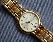 Vintage Wittnauer Ladies gold tone quartz watch