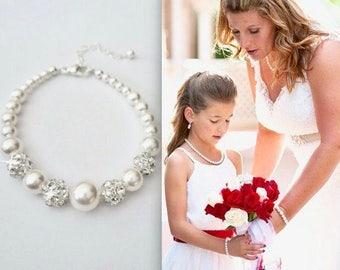 Pearl bracelet, Graduating pearl bracelet, Swarovski pearl bracelet, Crystal bracelet, Brides pearl bracelet, Classic ,Gift - DESTINY