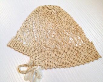 Beautiful Vintage Baby Bonnet