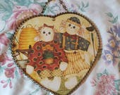 flu Cover Heart shaped dolls,