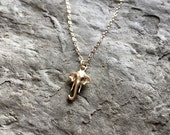 Gold Elephant Necklace / Tiny Elephant / Dainty Gold Necklace