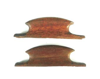 Pair of Wooden Drawer Pulls, Vintage Hardware Salvage