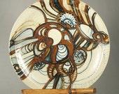 Fantastic Iron Mountain Pottery plate, platter, serving tray, Nancy Patterson Lamb, Sally