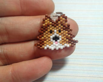 Shetland Sheepdog charm, beaded dog, sheltie keychain, sheltie jewelry, beaded keychain, beaded charm, beaded necklace, dog charm, sheltie