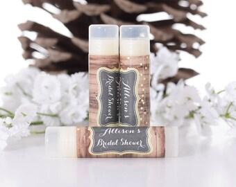 50 Vintage Wedding Lip Balm Labels - Custom Bridal Shower Favor Stickers - Rustic Chapstick Labels - Wedding Favor Labels