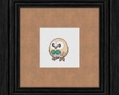 722 Rowlet Pokémon Cross Stitch Pattern - Instant PDF Download