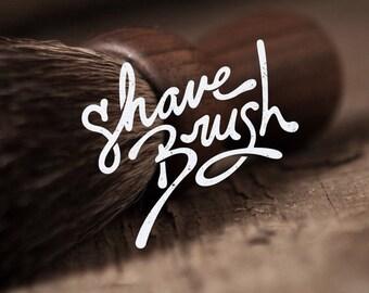 SHAVING BRUSH: Premium Badger Shave Brush – Beard grooming or shaving, solid walnut wood