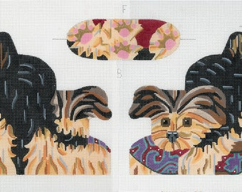 Yorkshire Terrier Puppy Needlepoint Canvas