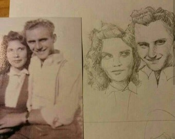 Personalized Art sisters brothers kids family,  Custom Customized Art, Pencil portraits, Custom Sketch, Portrait from photo