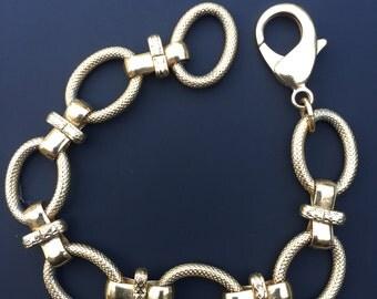 Vintage Gold not Gold Chunky Bracelet