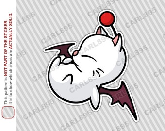 Final Fantasy Moogle - Car Truck SUV Vinyl Bumper Sticker
