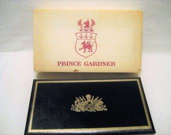 Prince Gardner Mens Jewelry Box, Valet Vintage 1960s New in Original Box, Made in Sweden