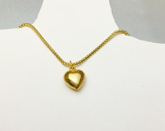 12KGF locket Pendant/Necklace, Vintage Heart Design, Romantic Gift idea, Item No. S337