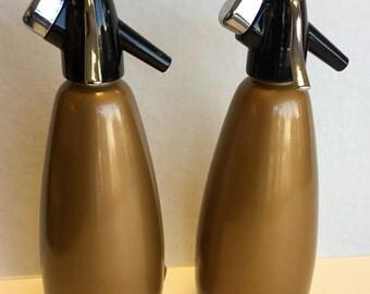 1940s Bronze Seltzer Bottle