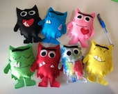 The colour monster ( pack of 7 monsters)