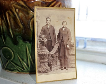 Antique Photograph Cabinet Card 1800s Victorian Brothers