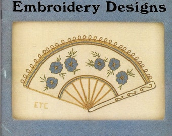 Silk and Metal Thread Embroidery Designs–Lady's Fan and  Butterfly and Branch Paperback –1980 by Elsa T. Cose