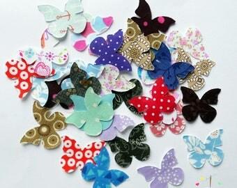 Iron On Applique, Fabric Applique, Butterflies, Appliques for Bibs, Bodysuits, Burp cloths, appliques DIY