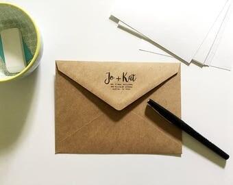 Custom Return Address Kraft Envelopes - Custom Envelopes - Graduation Announcement Envelopes - Sized for A7 5x7 Cards - Wedding Stationery