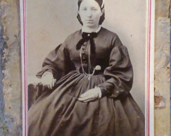 Antique Photograph Woman Lady Seated