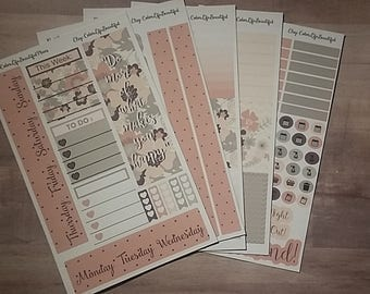 Happy Planner Shabby Chic Blush Weekly Kit