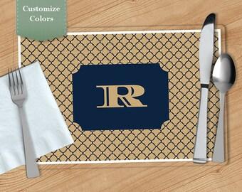 Quatrefoil-  Personalized Placemat, Customized Placemats, Custom Placemat, Personalized Gift