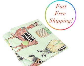 Llama Wallet, Small Womens Wallet, Small Wallet, Clutch Wallet, Cute Fabric Wallet, Wallets For Women, Credit Card Wallet, Mini Wallet