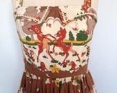 RESERVED FOR KASEY amazing rare handmade disney 1950 dress/ Bambi