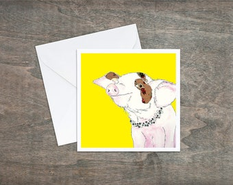 Cute Pig - Art Card