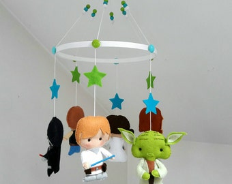 Baby Star Wars hanging mobile / Star Wars Crib mobile / Star Wars Cot hanging mobile / Nursery decor / ceiling mobile / babyroom decor