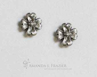 Sterling Silver Dogwood Blossom Studs