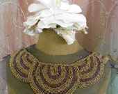 Coppery Brown Beaded Collar