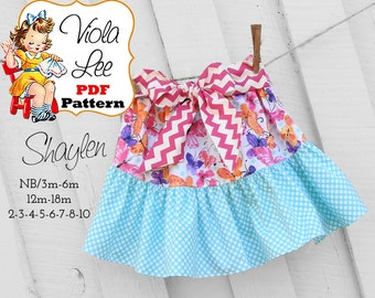 Shaylen, Toddler Ruffle Skirt Patterns. Girl's Skirt Patterns. pdf Sewing Patterns, Ruffle Skirt Patterns. Toddler Skirts, Ruffle Skirts