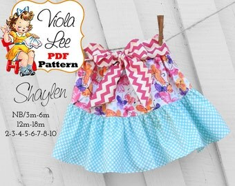 Shaylen Ruffled Twirl Skirt Pattern. Girls Skirt Pattern. pdf Sewing Pattern, Ruffled Skirt Pattern. Toddler Sewing pattern INSTANT DOWNLOAD
