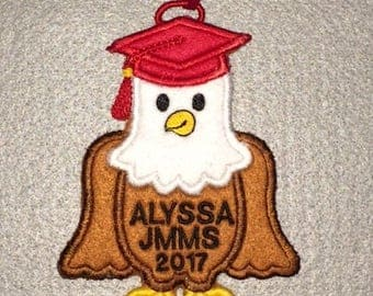 Personalized Eagle Graduation Ornament or Gift Tag