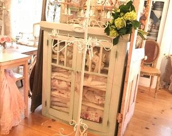 Vintage  candelabra white shabby chic prairie cottage chic