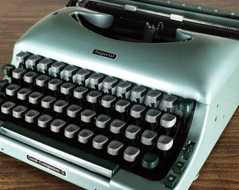 Vintage 1950s Imperial 'Good Companion 5' Portable Typewriter, Made in England, Excellent Condition