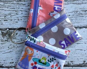 Kids Unicorn Cash Budgeting, Spend Save Give Wallet Set