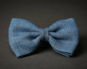 Classic / Wedding  Blue patterned Pre Tied bow tie