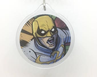 Upcycled Comic Book Keychain Featuring - Ironfist