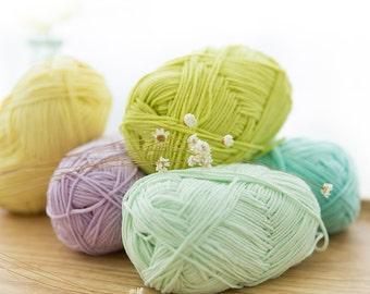 Ice Cream Cotton Yarn Available in 50 Colors / Milky Whey Yarn / Crochet Yarn / Knitting Yarn / Crochet Baby Yarn