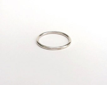 Sterling Silver Plain Band Single Stacking Ring