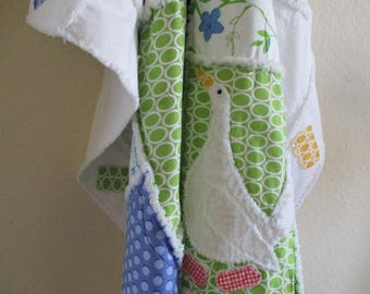 Patchwork Lap Rag Quilt, Handmade Quilt, Lap Quilt - Rag Quilt - Throw Quilt - Blue Home Decor