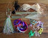 Make Your Own Corn Dolly Goddesses. Craft Materials Starter Kit For Making Imbolc, Ostara, Beltane, Lammas, Mabon Dark Goddess Corn Dollies.